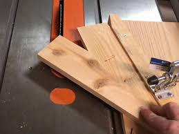 photo of second cut using the jig to make a diy wooden star decoration