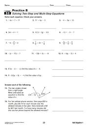 algebra 1 practice worksheets