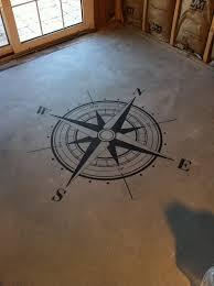 Large Floor Stencils  Home Decor Ideas Basement Floor Ideas - Painted basement floor ideas