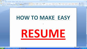 How To Do A Resume On Microsoft Word 2010 Best Resume Ms Word Template How To Make A Resume In Microsoft Word 20