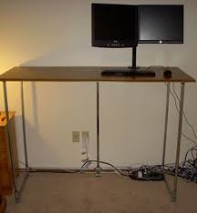 How tall is a desk Office How To Build Standing Desk On The Cheap With Galvanized Pipe Blitzresults 39 Best Diy Tall Desk Ideas Images Woodworking Diy Tall Desk