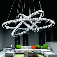 led crystal chandelier square chandeliers rings lighting fixtures