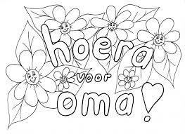 Kleurennu Boeket Voor Oma Kleurplaten Idee Kleurplaat Verjaardag