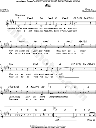 a change in me beauty and the beast sheet music