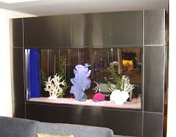 fish tank stand design ideas office aquarium. View In Gallery Built-in Fish Tank With Metallic Edging Stand Design Ideas Office Aquarium