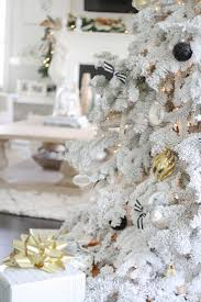 White flocked christmas tree