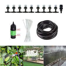33ft garden patio misting cooling system water mister nozzles mist sprinkler kit