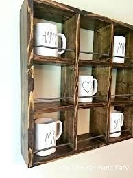 wall mounted mug holder coffee mug wall hanger large size of home design how to build wall mounted mug holder