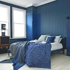 Blue And White Bedroom Blue Bedroom With A Dark Navy Palette Blue ...