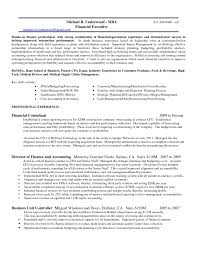 Sample Financial Controller Resume Free Resume Example And
