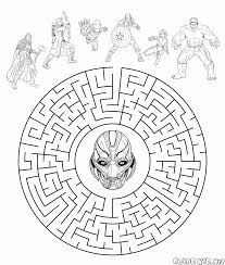 Small Picture Coloring page Black Widow in action