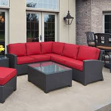cabo wicker sectional set by north cape