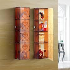 modern corner glass display cabinet