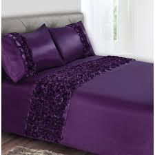 image of duvet cover purple rose