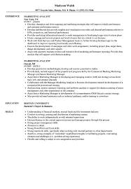 sample resume marketing marketing analyst resume samples velvet jobs