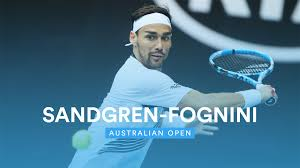 Australian Open: Sandgren-Fognini 7-6 7-5 6-7 6-4, gli highlights