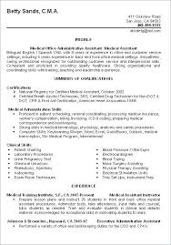 Medical Office Administration Duties Professional Medical Assistant Resume Medical Assistant Duties For