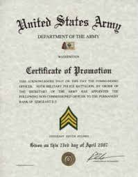 Military Certificate Templates Army Promotions Certificates 25