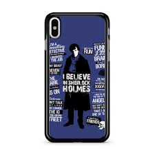 Sherlock Holmes Detective Quotes Iphone X Case
