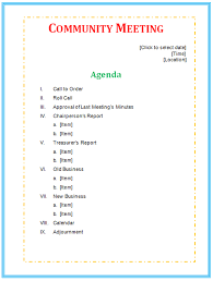 office agenda agenda templates microsoft office templates