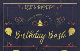 Create An Elegant Birthday Party Invitation Design Cuts