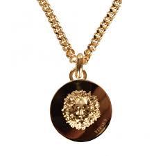 versus versace gold lion head necklace