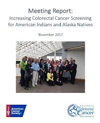 meeting report increasing colorectal cancer screening for american indians and alaska natives