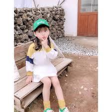 Đầm công chúa thời trang Hàn Quốc xinh xắn cho bé gái