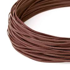 flat leather cord 120 cm brown