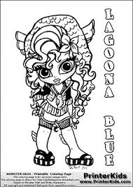 monster high baby coloring pages.  Pages Monster High  Lagoona Blue Baby Chibi Cute Coloring Page Inside Pages P