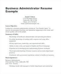 Plain Ideas Business Administration Resume Samples Sample Business