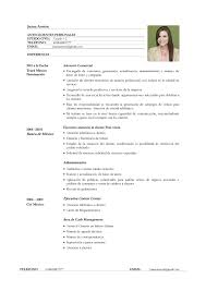 ejemplo de currículum vitae para servicio de atención al cliente ejemplo cv servicio de atencion al cliente page 001