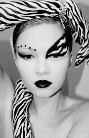 black and white gem accented fantasy make up look fantasy makeup black and