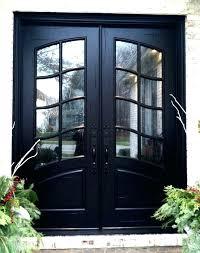 glass double front door. Double Front Door Black Doors With Glass Entry French Swag Panel Design