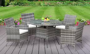5pc rattan dining set outdoor garden