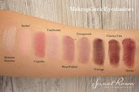 makeupgeek eyeshadows makeup geek swatches