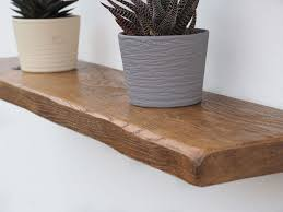 rustic oak floating shelves