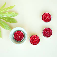Rose Scented Tea Lights Red Rose Scented Tea Lights Thang Tho Ltd