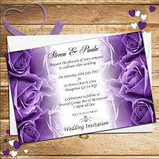 purple wedding invitations amazon co uk Cadbury Purple Wedding Invitations Online 10 personalised purple roses wedding day evening invitations n62 Black and Purple Wedding Invitations