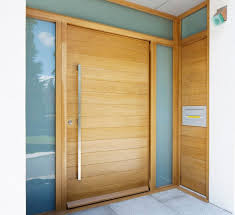 Semi Solid Horizontal Slatted Pivot Door PreHung In Frame  X - Exterior pivot door
