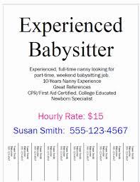 Babysitter Resume Sample Best Of Babysitter Needed Ads