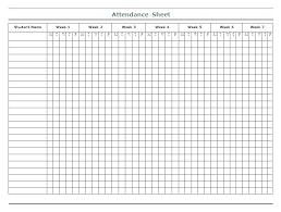 Blank Attendance Roster Tsurukame Co