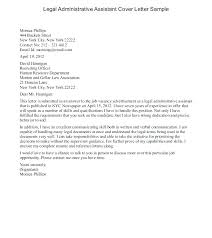 Assistant Executive Cover Letter Administrative Assistant Cover