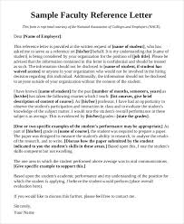 faculty letter of recommendation sample recommendation letter for academic position