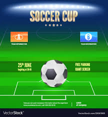 soccer team brochure template soccer event flyer template place your text and vector image on vectorstock