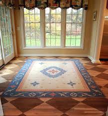 inspiring painted floor rugs painted faux oriental rug and checkerboard dining room floor detail 2 painted