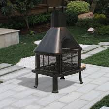outdoor fireplace on deck safe