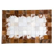 circle pattern rug handmade luxury cowhide seamed small rug modern genuine semi circle pattern door mat circle pattern rug