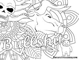Free Printable Coloring Pages Adults Only Geometric Swear Words