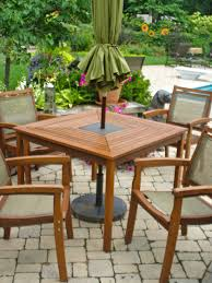 outdoor wood dining table. Eucalyptus Table With Granite Inlay Dining Set Outdoor Wood L